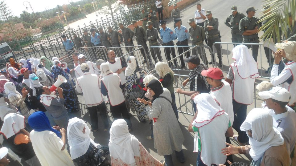 وقفة احتجاجية أمام العمالة لمعطلي ANDCM زاكورة