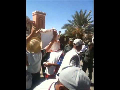 احتجاجات معطلي زاكورة 12-09-2012