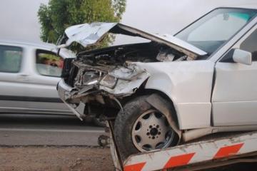 سيارة من نوع مرسيديس 190 تصطدم بعربة مجرورة بين زاكورة وتمكروت