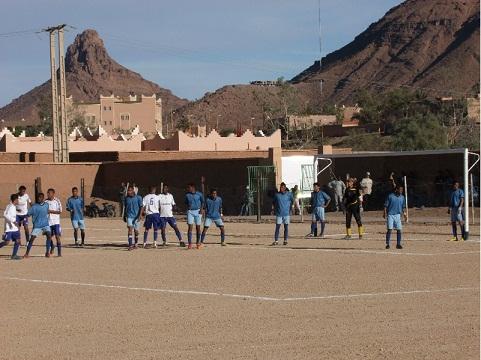 الهزيمة الثانية على التوالى لفريق اتحاد زاكورة لكرة القدم
