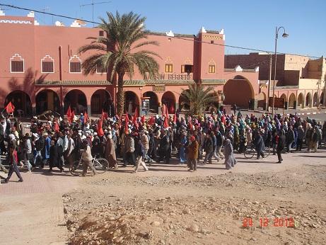 سكان زاوية البركة بزاكورة ينتفضون ضد حرمانهم من حقهم في أراضي السلالية