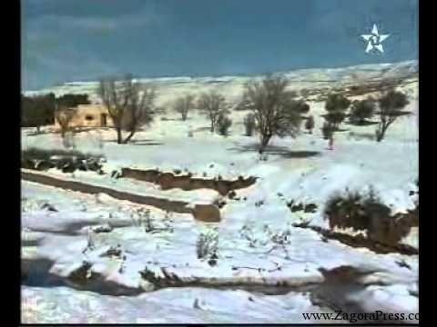 تساقط الثلوج بجرادة