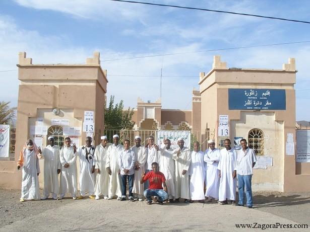تعليق اعتصام ذوي الحقوق لقبيلة اوريز أمام دائرة أكدز بإقليم زاكورة بعد 90 يوما