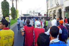 اعتقالات وحصار الأطر المعطلة في شوارع الرباط