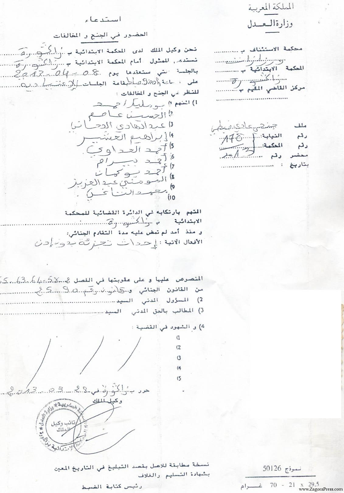 ذوي الحقوق في أراضي الجموع لتنسيطة اخشاع يطالبون بانصافهم