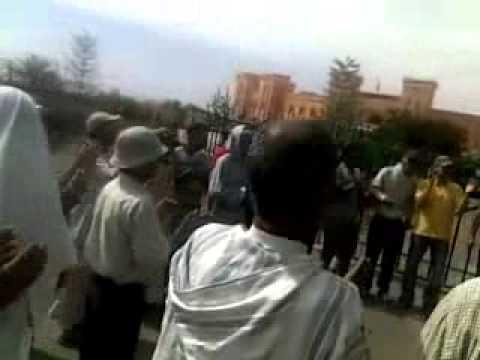 وقفة احتجاجية أمام المحكمة الابتدائية بزاكورة