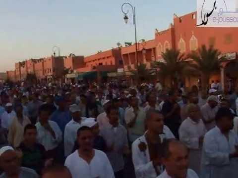 مسيرة شعبية ضد الوضع الصحي الكارثي بزاكورة