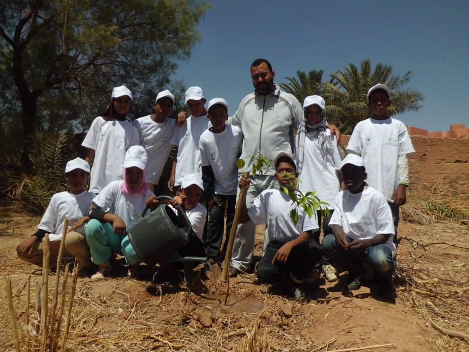 جمعية أصدقاء البيئة بزاكورة تحل بمدرسة تانسيطة 1 الإبتدائية