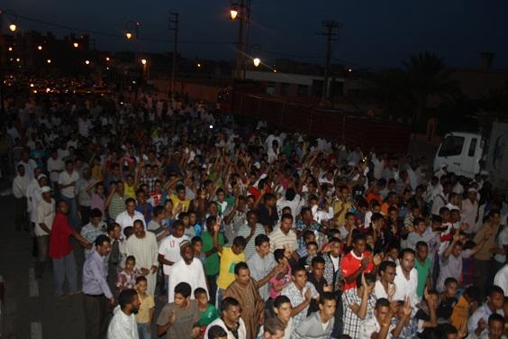 تجاوب شعبي كبير مع مسيرة الفرع المحلي بزاكورة مساء يوم الجمعة 10 ماي
