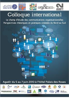 """المؤتمر الدولي """"ميدان دراسات التواصل المؤسساتي : الأبعاد النظرية والتطبيقية المزدوجة من الشمال إلى الجنوب"""""""