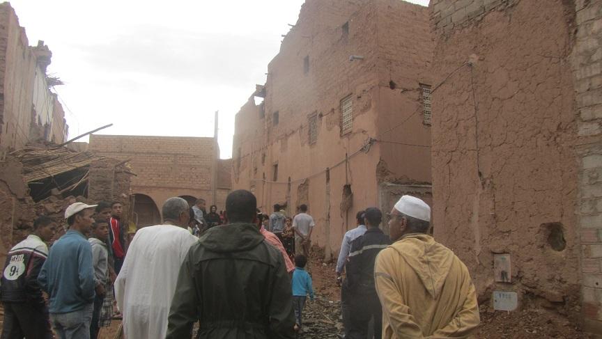 أمطار الخير بزاكورة تخلف ارتياحا لدى الساكنة و ضررا بالمنازل الطينية