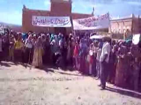 """فيديو: إحتجاجات ساكنة أولاد يحيى من أجل """"تيسير"""""""