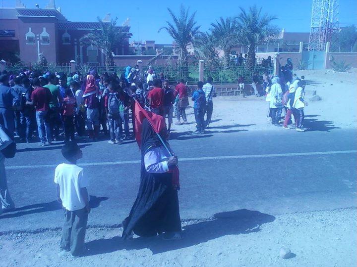 زاكورة: وقفة احتجاجية نسوية امام مقر جماعة أولاد يحيي  للمطالبة بتعميم برنامج تيسير