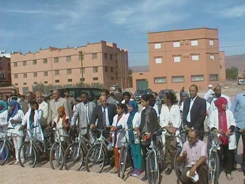 """جمعية """"مقورن"""" للتنمية بتنغير تنظم حفل تسليم دراجات هوائية"""