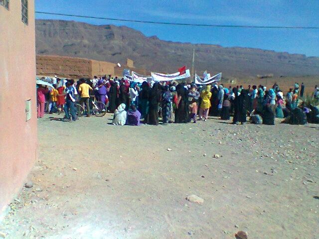اعتصام أمام مقر جماعة أولاد يحيي