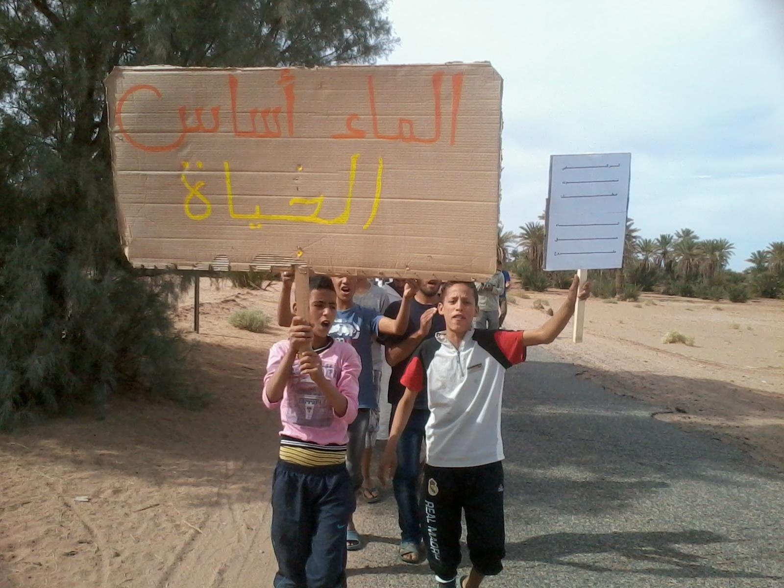 مسيرات شعبية غاضبة لسكان الركابي في يومها الثالث