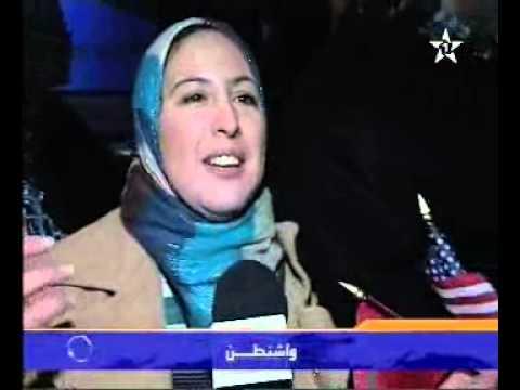 فرحة مغاربة واشنطن بزيارة جلالة الملك