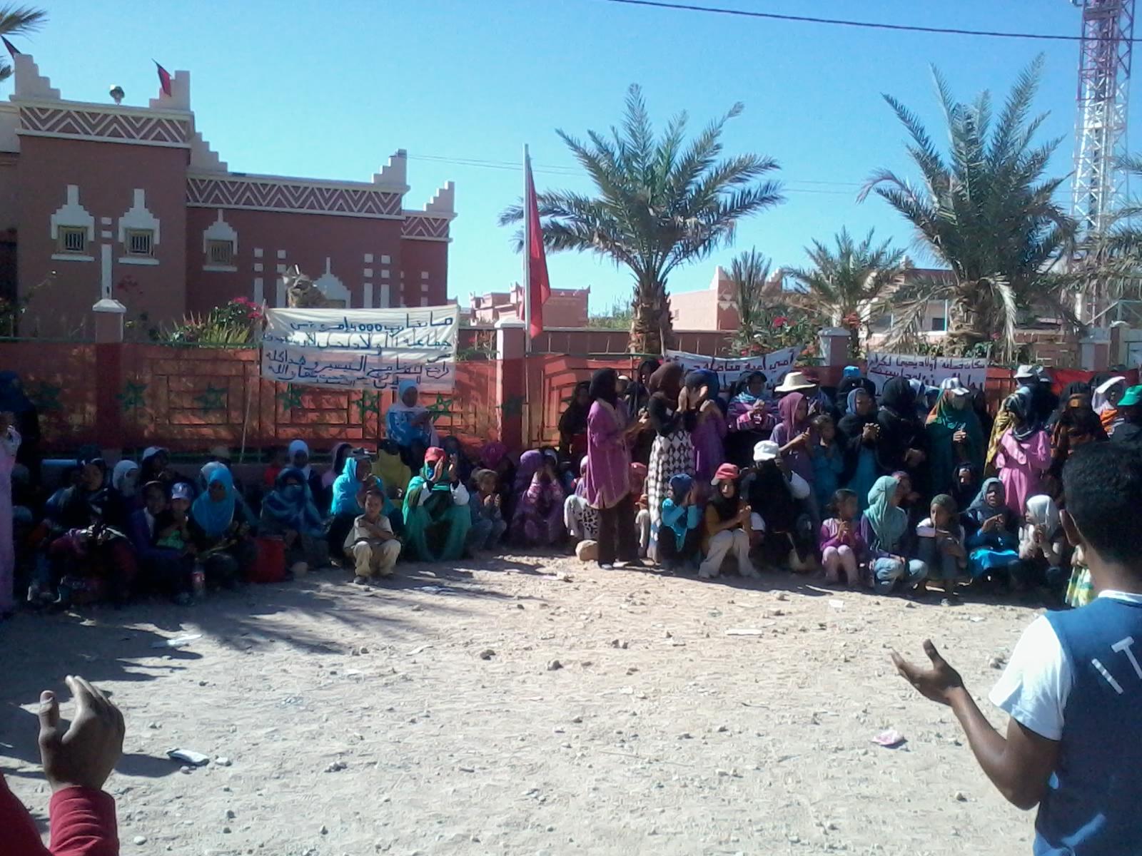شهر من الاحتجاج لجماعة اولاد يحي لكراير