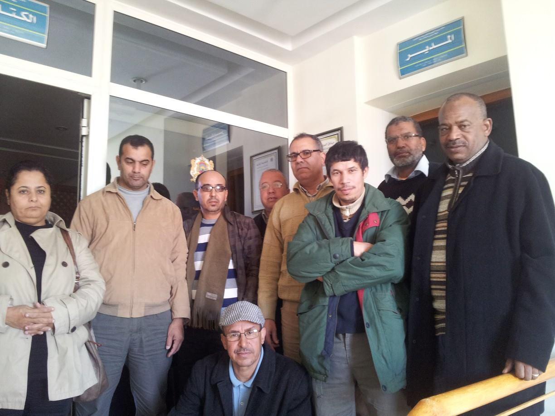 عاجل اعتصام اعضاء المكتب الجهوي بالكتابة الخاصة لمدير الاكاديمية الجهوية سوس ماسة درعة