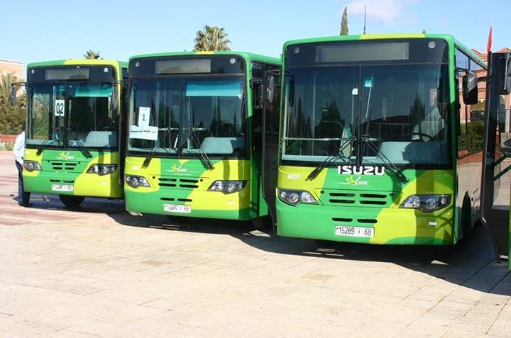 تسع حافلات جديدة تعزز النقل العمومي بورزازات