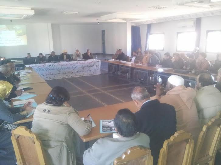 """يوم دراسي حول """" الحركة الجمعوية ورهان المحافظة على التراث المحلي أحواش و القصبات نموذجا"""" بورزازات"""