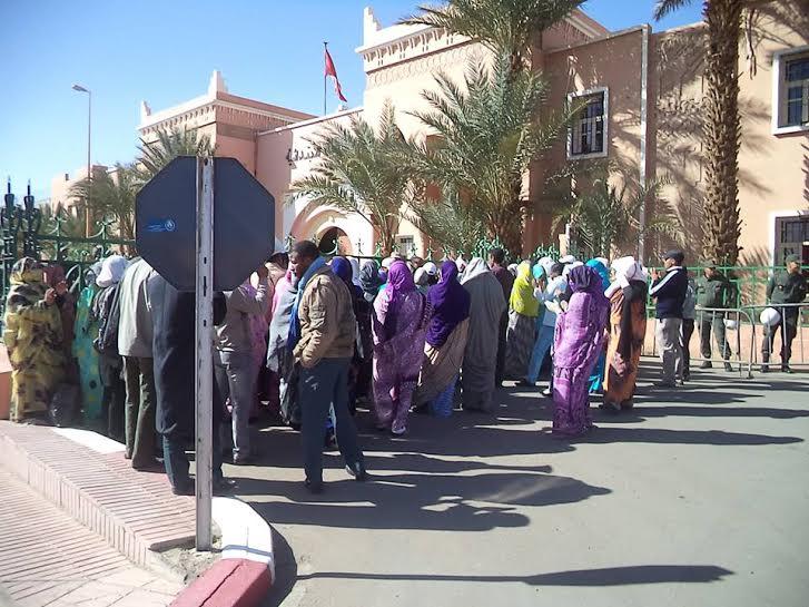 اعتصام يومي للفرع المحلي للجمعية الوطنية لحملة الشهادات المعطلين بالمغرب امام عمالة زاكورة