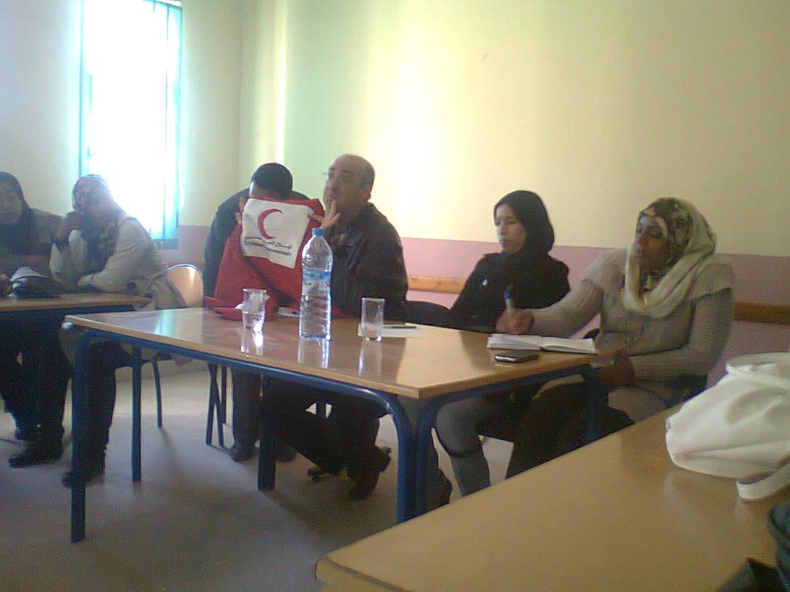 المكتب المحلي للهلال الأحمر المغربي فرع أكدز في لقاء تواصلي مع المنخرطين