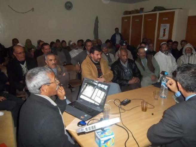 """برنامج """"مسار"""" محور لقاء تواصلي لثانوية عبد الرحيم بوعبيد الإعدادية  بورزازات و آباء و أمهات المؤسسة"""