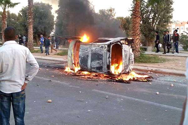 إحالة 10 من طلبة ابن زهر على العدالة، وإصابة رجال أمن في المواجهات