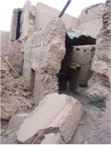 شباب أسكجور يستنكرون استهتار رئيس قيادة تمكروت  بمعاناة الأسرة التي انهار مسكنها