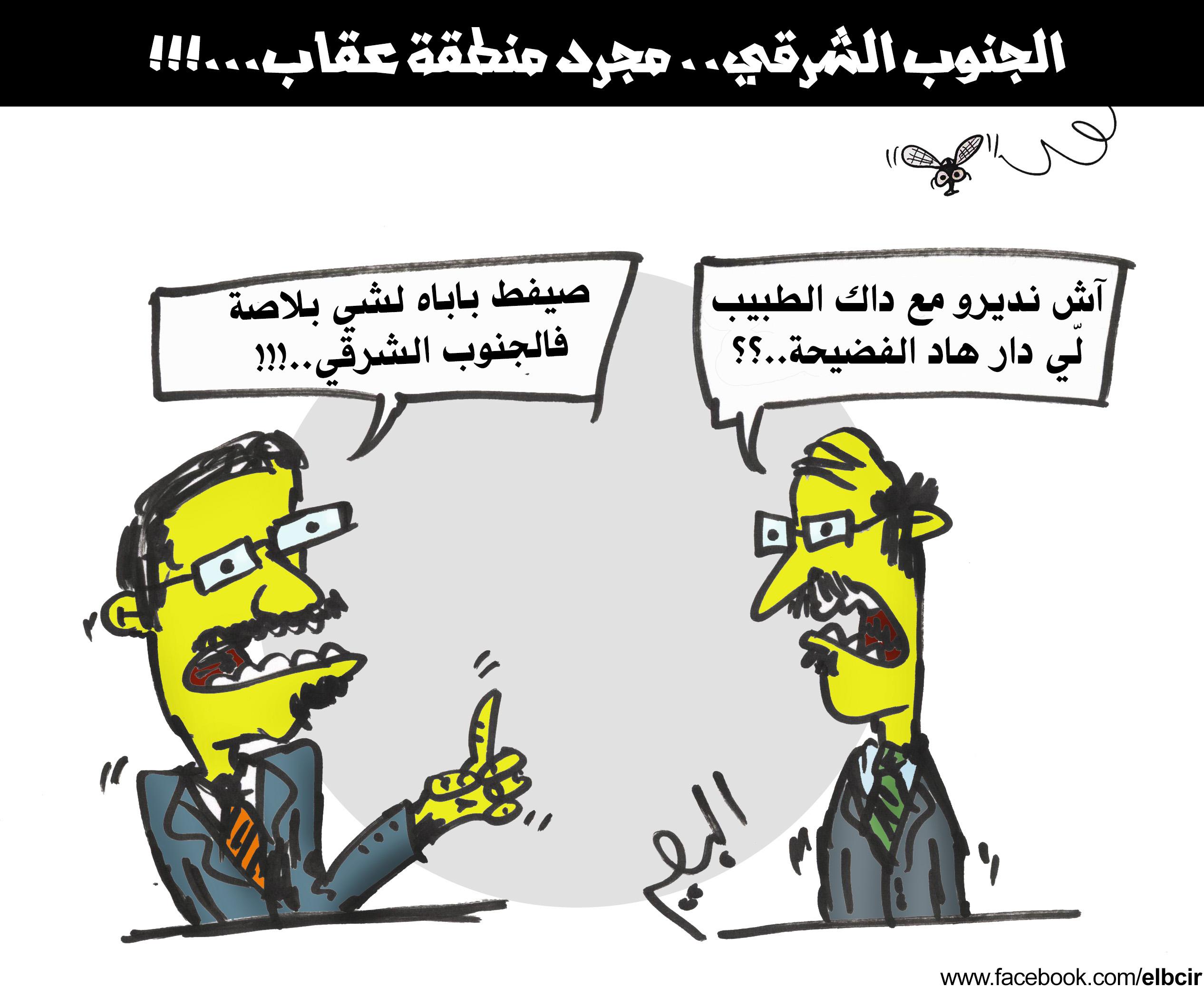 كاريكاتير عقاب المسؤولين بالجنوب الشرقي