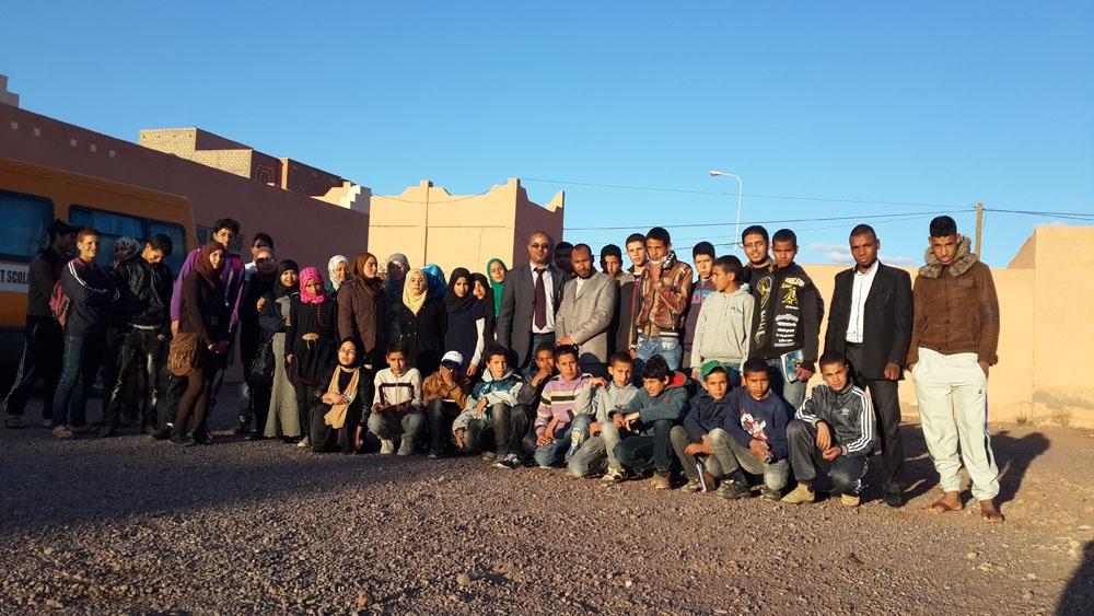 ثانوية سيدي احمد بن ناجي الإعدادية بورزازات تنظم رحلة للمتفوقات و المتفوقين من تلامذتها