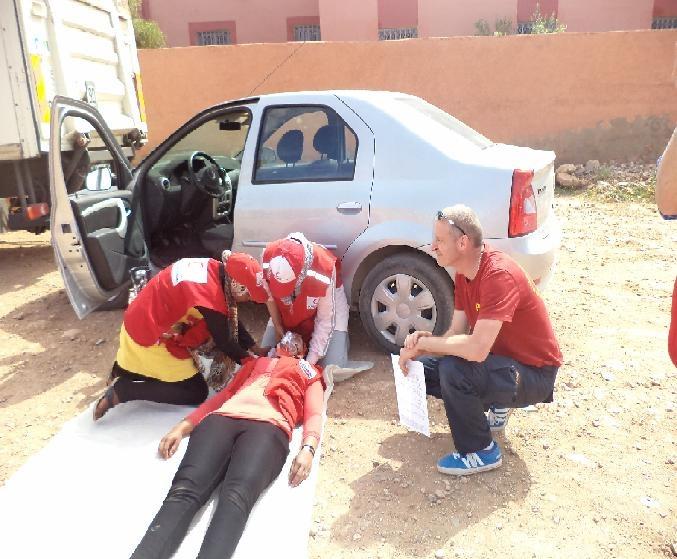 دورة فاطمة الغاشي لتدريب متطوعي الهلال الاحمر المغربي بتنغير
