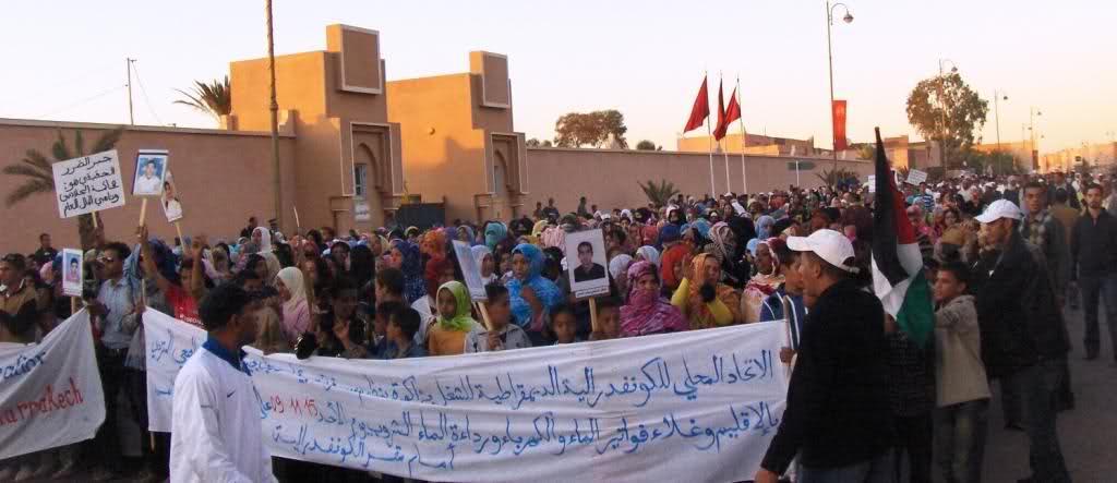 ساكنة زاكورة في وقفة احتجاجية للمطالبة بالماء يوم الثلاثاء 16 شتنبر امام مقر العمالة