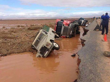 أربع طرق مقطوعة بسبب التساقطات المطرية بإقليم كلميم