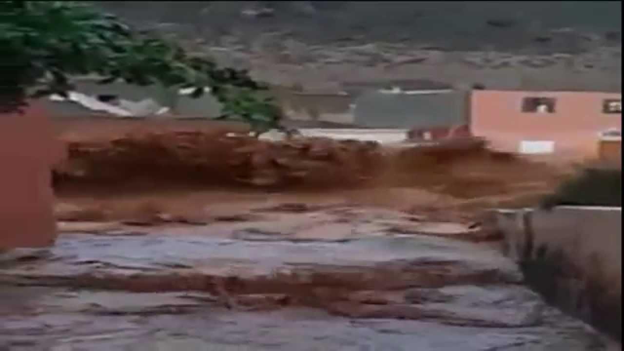 فيضان واد أدودو يشرد العائلات ويدمر كل المباني