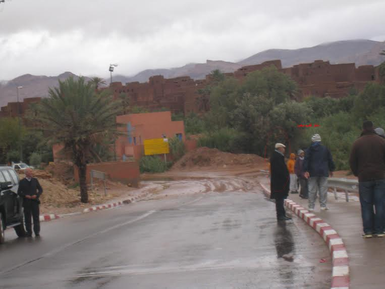 صور من تنغير: فيضانات تحاصر ساكنة القرى الجبلية وتفتك ببعض المحاصيل الزراعية