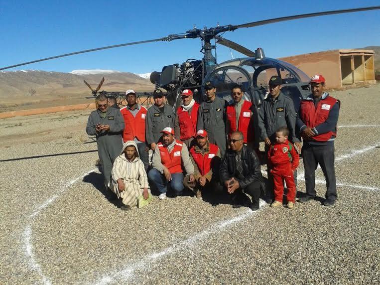 سلطات تنغير تستعين بمروحية لاغاثة  المناطق المنكوبة