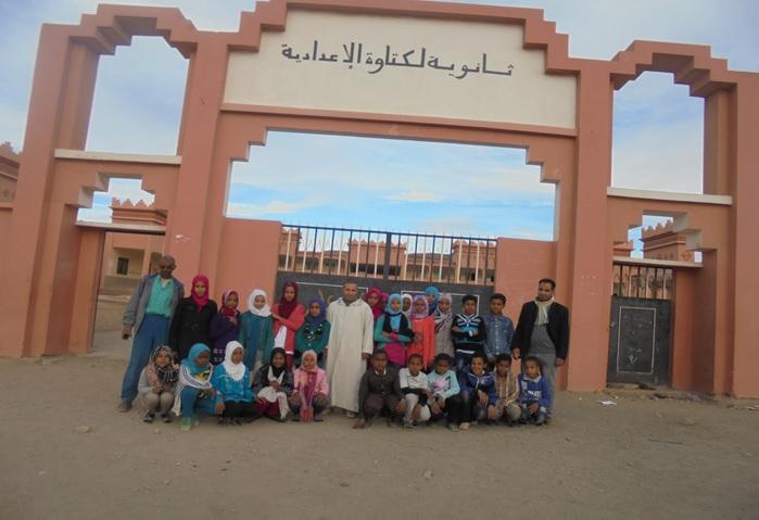 زيارة مدرسية لفائدة بعض تلامذة م م بني سمكين إلى الثانوية الإعدادية لكتاوة