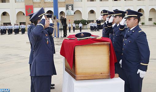 إقامة جنازة عسكرية بسلا تكريما لروح الملازم الطيار ياسين بحتي الذي استشهد في اليمن