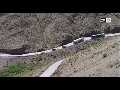 تقدم أشغال إعادة تهيئة الطريق الوطنية رقم 9 الرابطة بين مراكش و ورزازات على طول 186 كلم