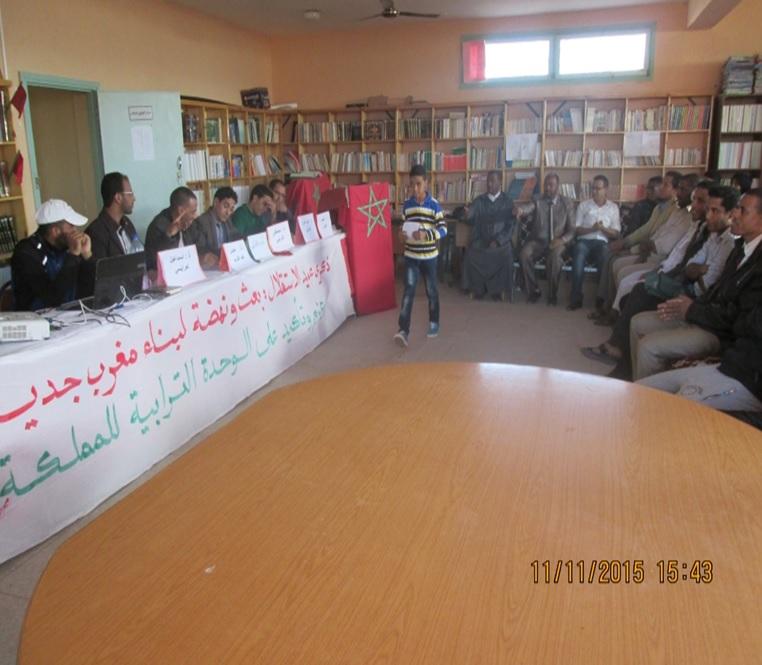 تخليد ذكرى المسيرة الخضراء وعيد الاستقلال بثانوية سيدي صالح – تاكونيت
