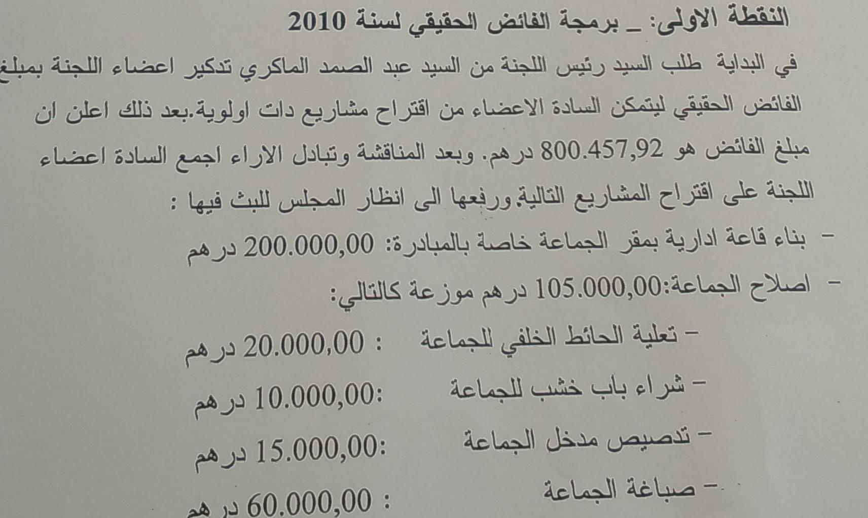 وثائق إثباث بمقال خاص بجماعة تمكروت