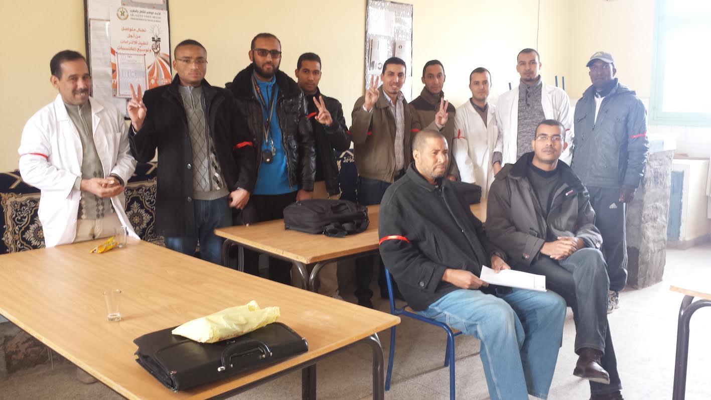 أساتذة الجراري ببني زولي يتضامنون مع الأساتذة المتدربين