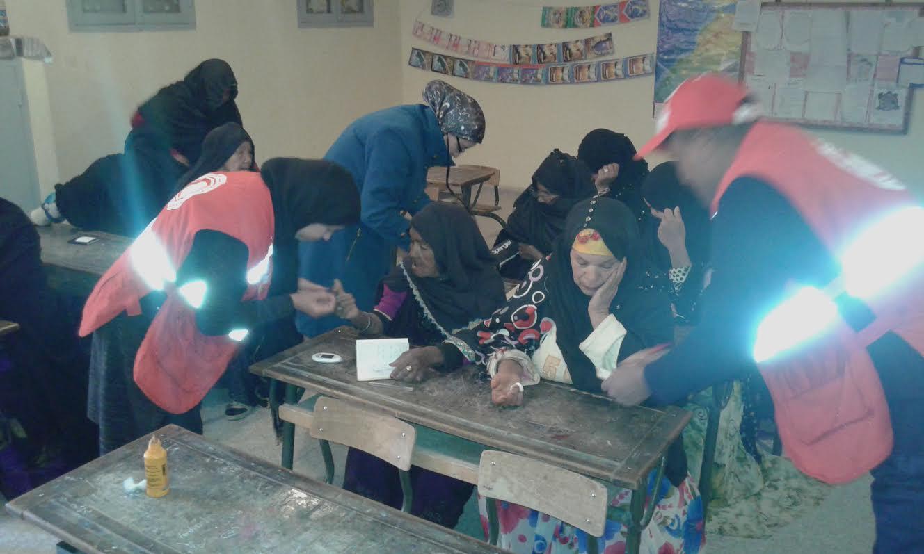 تازارين: حملة تحسيسية للهلال الأحمر المغربي بالسوق القديم