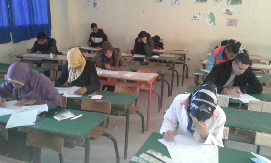انطلاق الدور الأول من الامتحانات الإشهاديةالإعدادية بنيابة زاكورة