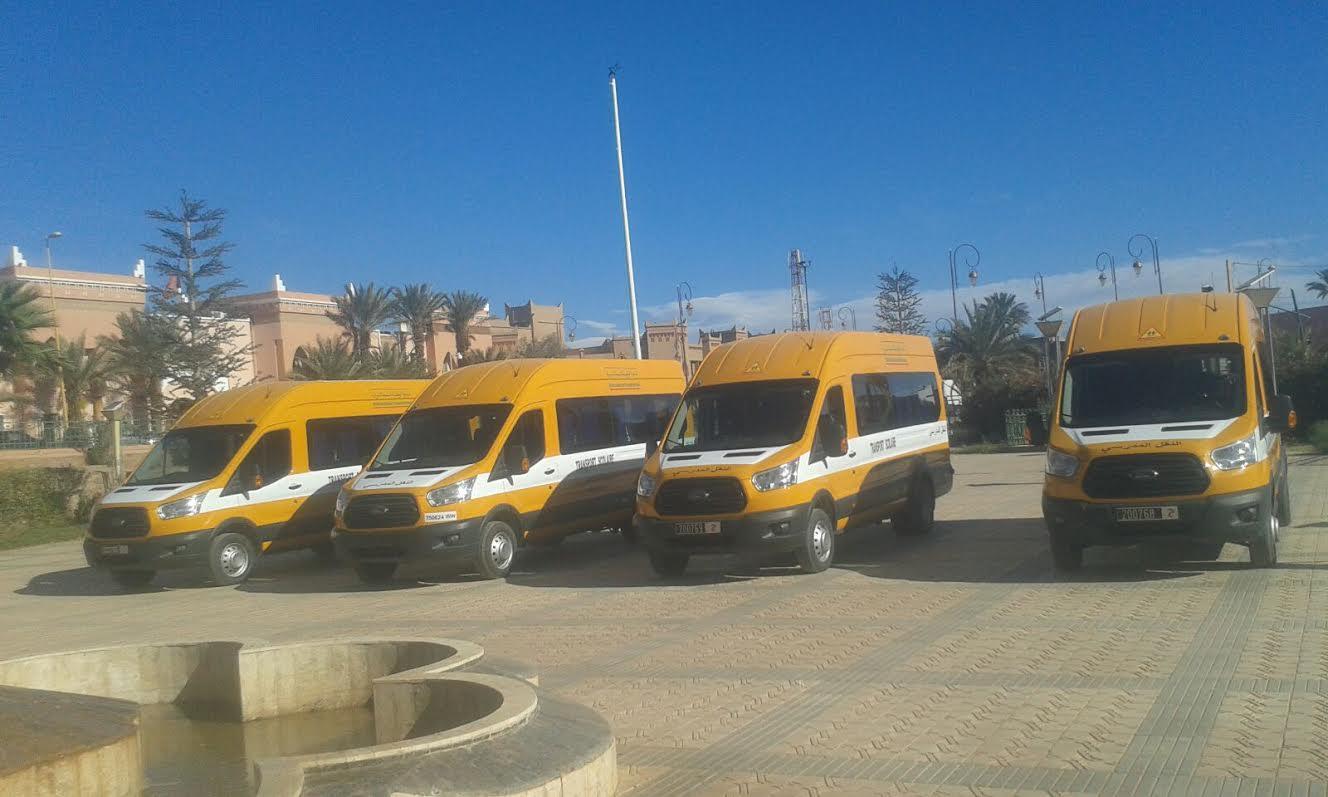عشر حافلات تعزز أسطول النقل المدرسي بنيابة إقليم زاكورة