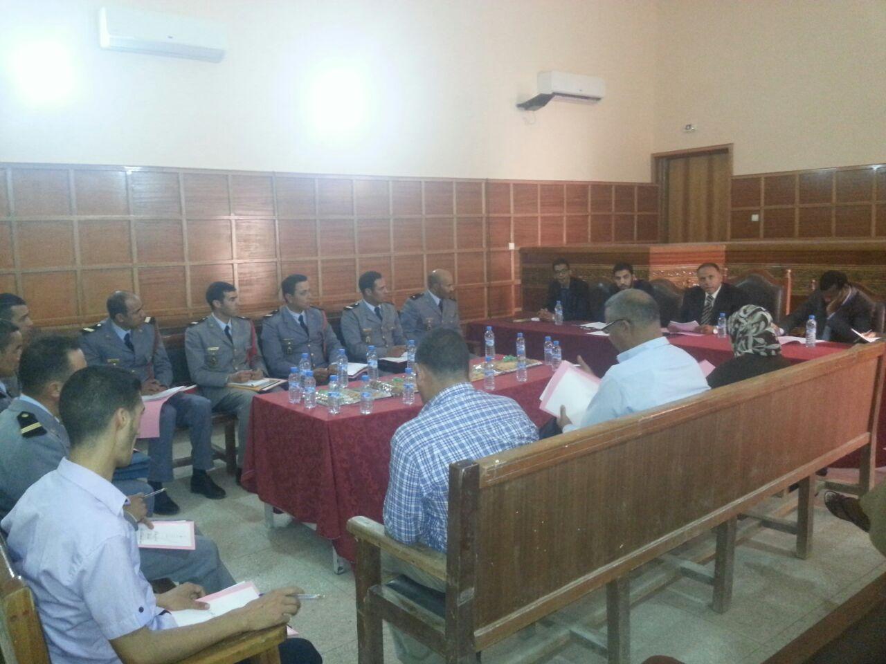 بالصور: الاجتماع الدوري لخلية التكفل بالنساء و الاطفال ضحايا العنف بالمحكمة الابتدائية بزاكورة