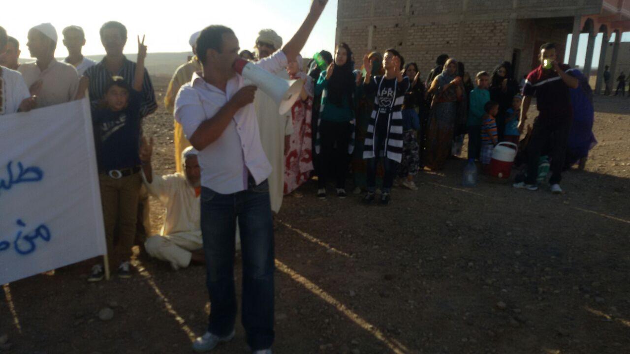 صور من الوقفة الإحتجاجية التي قامت بها قبيلة أسرير بزاكورة