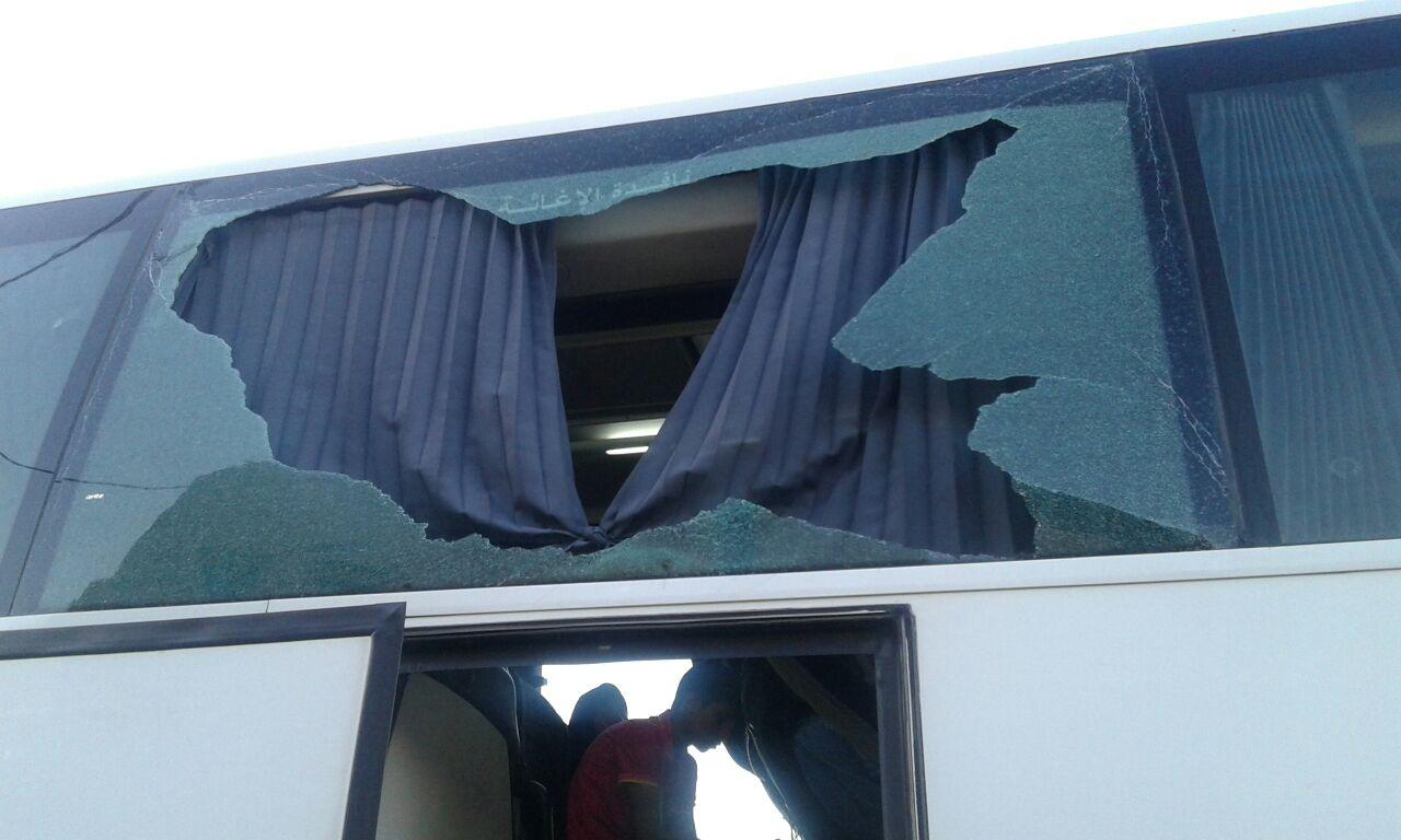 تعرض حافلة لـ STCR لهجوم بالحجارة وإصابة السائق وسيدة